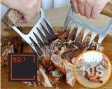 BBQ van Hotsale Toestel het Van uitstekende kwaliteit van de Keuken van de Vorken van het Vlees van de Klauwen van de Wolf van de Hulpmiddelen van de Hand van het Voedsel met Comfortabel Houten Handvat