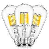 ST64 에너지 절약 4W LED- 40W 동등물] [목록으로 만들어지는 UL] [2200K는 데운다] E26는 기초를 두었다