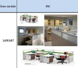 컵 손수레, 서랍 워크 스테이션을%s 가진 지원실 책상 워크 스테이션을%s 가진 사무용 가구 사무실 워크 스테이션은 만들어 주문을 받아서 만든다