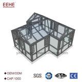 Sunroom vitrificado alumínio da casa do recipiente de vidro