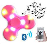 Hilandero de la mano de la persona agitada del juguete de la descompresión del precio de fábrica con el altavoz de Bluetooth y la luz del LED