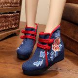 Mesdames fashion chaussures brodé de chaussures bottes bottes occasionnel