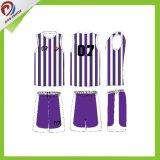 Pallacanestro su ordinazione Jersey degli abiti sportivi uniformi di pallacanestro della banda sublimata 2017