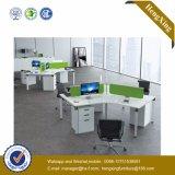 木MDFのオフィスの区分クラスタ事務員のスタッフワークステーション(HX-NJ5020)
