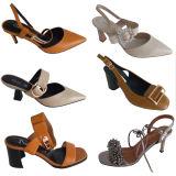 Ornamento de encargo del clip del zapato de la joyería de la sandalia del Rhinestone de Godd del metal