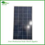 La salida del panel solar