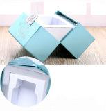 Матовое ламинирование тиснения голубой цвет красивый подарок ящики