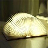 Venta caliente 4 Colores Libro plegado Noche de Luz LED de carga USB de la luz de la libreta de plegado