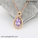 43169 Xuping encantos los diseños de piedra acrílica de cristales de Swarovski joyas collar