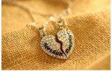 Vrouw 2 Rhodium/van de Halsband van de Tegenhanger van de Moeder & van de Dochter van PC Goud Geplateerd Beste Vrienden Gebroken Hart 925 de Zilveren Juwelen van de Halsband (44737532526)