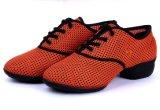 Scarpa da tennis spaccata di ballo della tomaia respirabile arancione della maglia delle donne sola