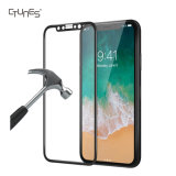 Protector de cristal de la pantalla de capítulo de Ctunes 3D de la dureza Tempered superior completa 9h de la tecnología para el iPhone X