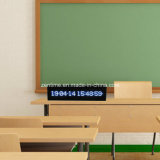 Reloj de vector de hora y de fecha del LED Digital