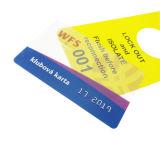 Cartão transparente personalizado Cr80 do PVC do plástico do negócio