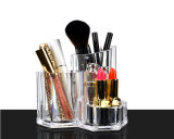Sostenedor plástico de la visualización del maquillaje del cepillo del claro de la inyección del molde