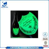 El material respetuoso del medio ambiente del vinilo Shinny la escritura de la etiqueta luminosa de la etiqueta engomada