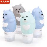 Bottiglia multicolore di corsa dell'orso del fumetto del silicone a perfetta tenuta per cura personale