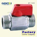 Messingkugelventil Pn16 mit rotem Griff für Wasser, Öl