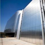 Panneau composé en plastique en aluminium de revêtement extérieur durable de mur de matériaux de construction