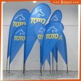 Smwの屋外広告のガラス繊維のポーランド人の羽ポリエステル上陸海岸表示旗