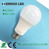 E27 светодиодная лампа 5 Вт/7W/9W/12W/15W/18W A60/A70 светодиодные лампы из алюминия пластика