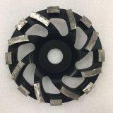 ruedas de pulido divididas en segmentos diamante de la taza de 180m m para el suelo concreto
