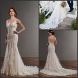 Beading Wedding Gowns Backless Laces PROM Bridal Dresses E16257
