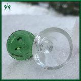 Moneda de vidrio verde macho de cuencos de cristal en el tubo de la cazoleta para grandes Tubo con 18 mm o conjunto de 14mm