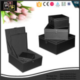 Pareja personalizado de cuero Negro Caja de almacenamiento (2244)