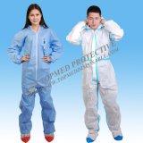 Non-Woven PPのつなぎ服の青いつなぎ服の試供品は提供した
