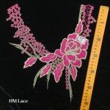 lacet élégant de collier de pivoine de rose de qualité de 27*30cm avec les glands et la frange Hme955 d'endroit