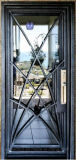 حديثة منزل حديد أنابيب باب تصميم/[ورووغت يرون] باب وزجاج ([إي-013])