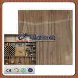 El panel de madera de la cabina del vino de la hoja de acero del laminado de la película del PVC del grano