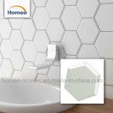 2018 Diseño hexagonal blanco nuevo cuarto de baño baldosas de cerámica Mosaico