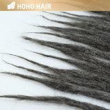 18のインチの暗い灰色の総合的な毛の拡張かぎ針編みDreadlocks