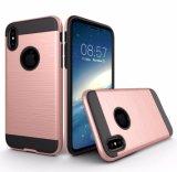 2017 de Flexibele Metaal Slanke Geborstelde Gevallen van de Telefoon TPU+PC voor iPhone 8
