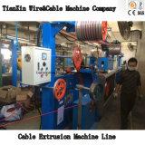 Envoltura de la chaqueta de la línea libre de la máquina de la protuberancia de cable del halógeno inferior del humo