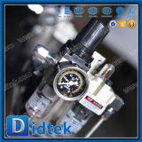 Tipo vávula de Didtek Dn25 10K Wcb V de bola con neumático