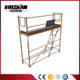 Andamio de aluminio móvil de la dimensión de una variable ampliamente utilizada excelente de la calidad H