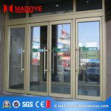 Porta de vidro da mola do frame de alumínio luxuoso do projeto para o prédio de escritórios