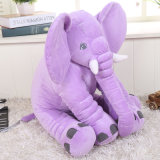 着席象の子供のプラシ天動物の枕