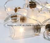 びんに妖精ストリングライトを望むガラス瓶のロマンチックで暖かい夢電池式党クリスマスクラスタライト装飾