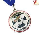 Fabrik-kundenspezifischer Großhandelssport-weiche Decklack-Goldmedaille 2018 mit Farbband (YB-MD-23)