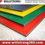 벽 건축 정면 위원회 닫집 천장 Signage에 의하여 송풍되는 정면을%s 알루미늄 베니어 위원회
