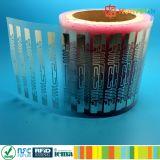 Escritura de la etiqueta pasiva del papel en blanco de la frecuencia ultraelevada Aln9740 RFID de ISO18000-6C Higgs 3