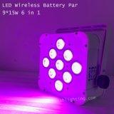 Batería Recargable Inalámbrico Control inalámbrico 15WX9 LED de luz PAR