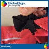 Stampa esterna di promozione che fa pubblicità alla bandierina di spiaggia della bandiera di rettangolo del poliestere