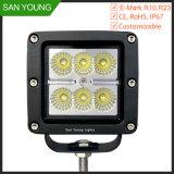 Qualité 18W outre de lumière de travail de la route DEL, lumière de travail de 12V 24V DEL