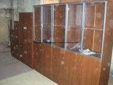 Porte en verre Cabinet Office du fichier de bibliothèque étagère en bois Meubles de bureau