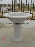 Granit en pierre normal bon marché découpant le bac de fleur avec le piédestal